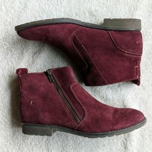 Montana Artisan Crafted Wine Suede Booties